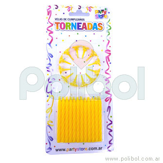 Velas torneadas amarillas