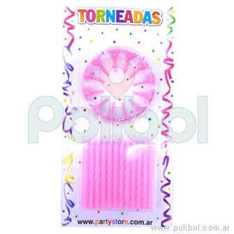 Velas de cumpleaños rosas