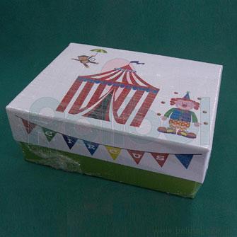 Caja forrada 19x24x09cm Circo