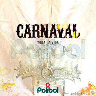 Corona de carnaval con 5 plumas.