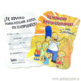 Invitaciones troqueladas Los Simpsons