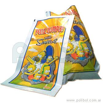 Bolsas plásticas de cotillón Los Simpsons