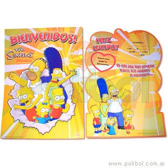 Afiche de Bienvenidos con recordatorio Los Simpsons