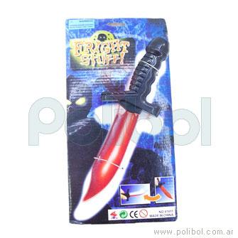 Cuchillo de juguete con sangre