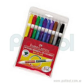 Marcadores Bicolor x10