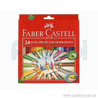 Lápices de colores con punta gruesa y largos x24