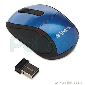 Mouse Mini Travel inalámbrico azul