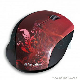 Mouse inalambrico Design Rojo