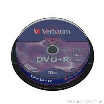 DVD+R 16x - 10 DVDs