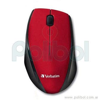 Mouse inalámbrico rojo