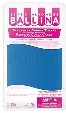Pasta cubre torta Azul sabor Dulce de Leche