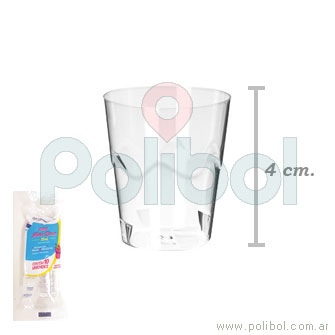 Vaso mini cristal x 10