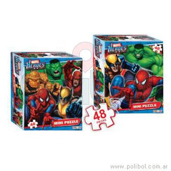 Mini Puzzle Marvel - 48 piezas