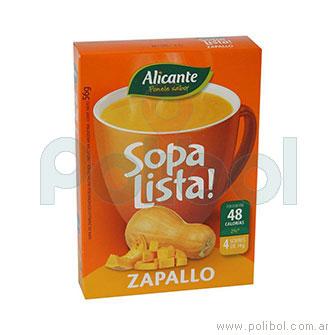 Sopa lista de Zapallo
