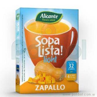 Sopa lista de Zapallo Light