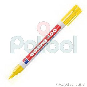 Marcador permanente amarillo 400