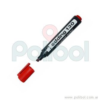 Marcador permanente rojo 130