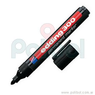 Marcador permanente negro 300