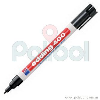 Marcador permanente negro 400