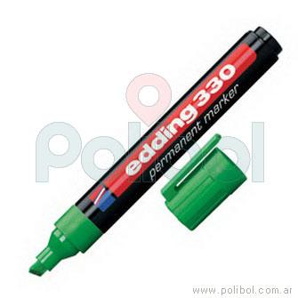 Marcador permanente verde 330