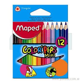 Lápices Color'Peps color Mini x 12