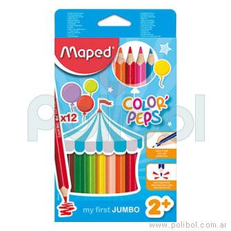 Lápices Color'Peps color Maxi x 12