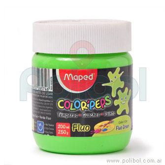 Témpera Color'Peps Pote de 250gr Verde Fluo
