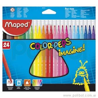 Marcadores de colores. Color Peps x 24