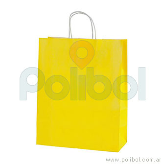 Bolsa amarilla con manija
