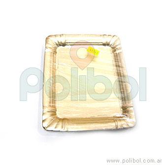 Bandeja diplomático dorada 3/4kg
