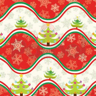 Bobina Papel de regalo navidad onda roja 60cm.
