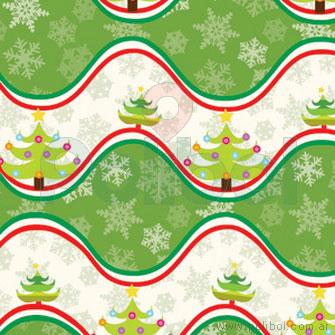 Bobina Papel de regalo navidad onda verde 60cm.
