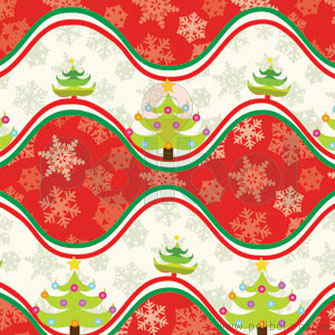Bobina Papel de regalo navidad onda roja 35cm.