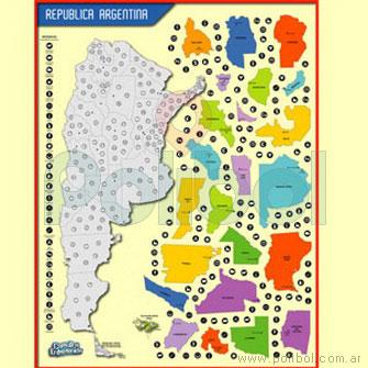 Cartulina Entretenida Mapa Argentino