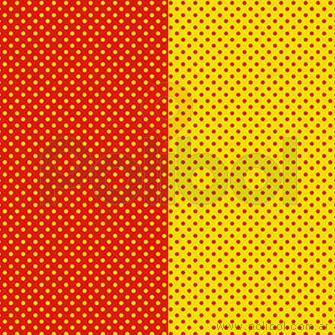 Cartulina Entretenida de lunares amarillos - rojos