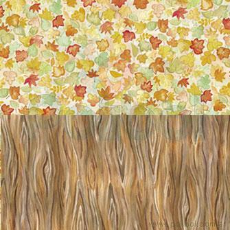 Cartulina Entretenida de tronco y hojas