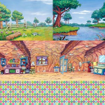 Cartulina Entretenida de Winnie the Pooh bosque