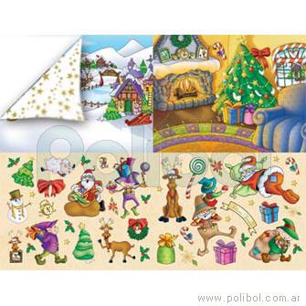Cartulina Entretenida de navidad