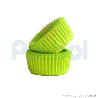 Pirotines Cupcake color verde manzana