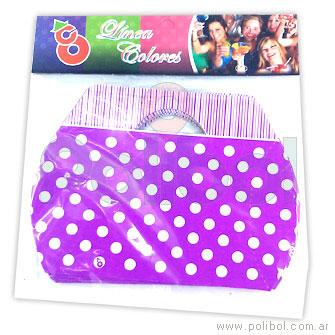 Caja para sorpress violeta con lunares x 10