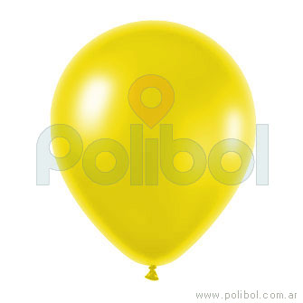 Globo color perlado amarillo