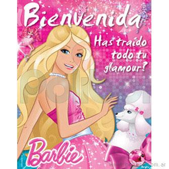 Afiche de Bienvenida Barbie Moda