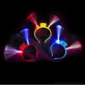 Vincha luminosa con fibra óptica.