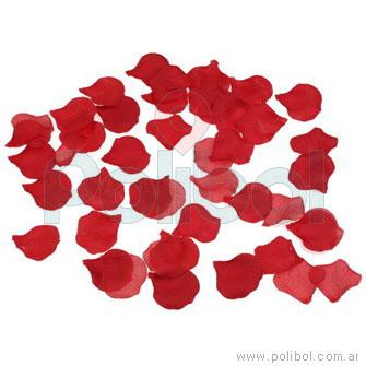 Bolsa de pétalos de rosa color rojo