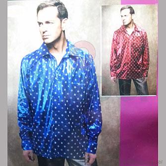 Disfraz camisa metalizada con estrellas.