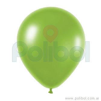 Globo color perlado verde manzana