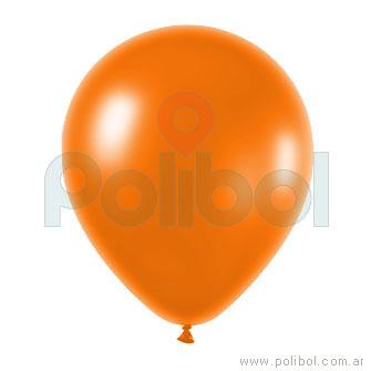Globo color perlado naranja