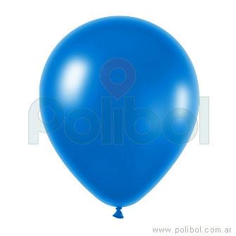 Globo color perlado azul