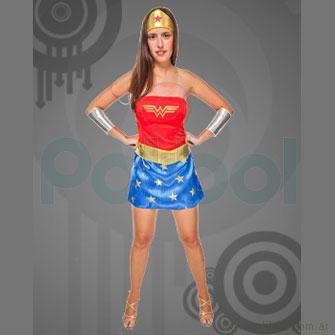 Disfraz para adultos de Mujer Maravilla Talle 2