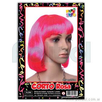 Peluca Corto Rosa